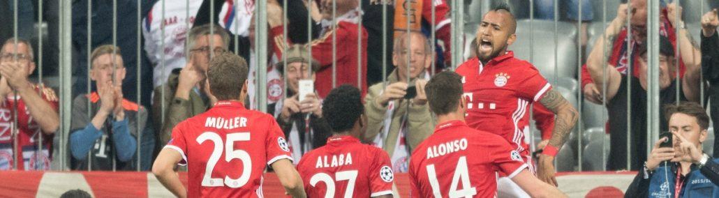 Werden die Bayern auch im Rückspiel in Madrid jubeln?
